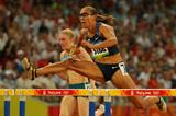 Lolo Jones blasts a 12.43 PB to qualify for the 100m hurdles final (Getty Images)