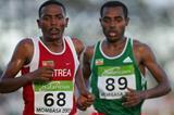Zersenay Tadesse (ERI) and Kenenisa Bekele (ETH) mix it in Mombasa (Getty Images)