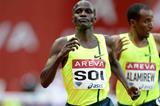 Edwin Soi en route to winning the 5000m at the IAAF Diamond League meeting in Paris (Jiro Mochizuki)