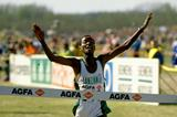 Andrew Sambu winning the 1991 IAAF World Cross Country Championships junior men's title (Getty Images)