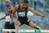 Johnny Dutch on his way to winning the 400m hurdles at the IAAF Diamond League meeting in Rome (Gladys von der Laage)