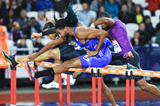 Jason Richardson wins the 110m hurdles at the IAAF Diamond League meeting in London (Jean-Pierre Durand)