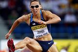 Lolo Jones of USA in action in the 60m Hurdles Semi-Final (Getty Images)
