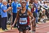 Mo Farah after winning the 5000m at the 2011 Monaco Diamond League (Philippe Fitte)