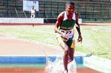 Southern Africa Regional 2000m boys' steeplechase champion Virgina Ngudlumana (South Africa) in Madagascar (Mark Ouma)