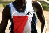 Mbarak Shami on the path to victory in the 2004 Baringo Half Marathon (Macharia)