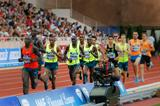 Ronald Kwemoi en route to setting a world junior 1500m record at the 2014 IAAF Diamond League meeting in Monaco (Philippe Fitte)