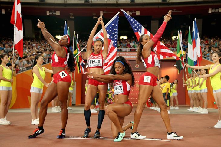 Women's 4x400m relay in Beijing ()