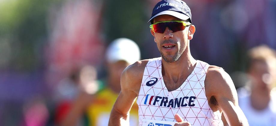 Yohann Diniz on his way to winning the 50km race walk (Getty Images)
