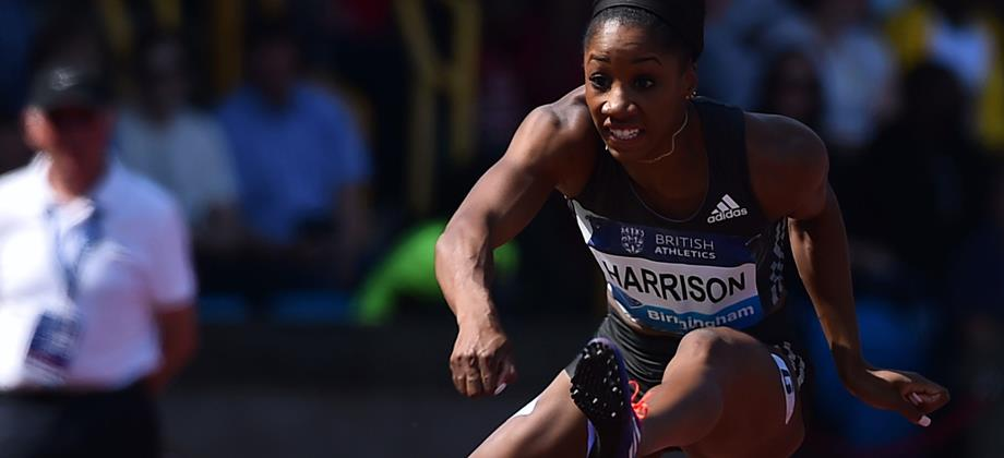 Kendra Harrison wins the 100m hurdles at the IAAF Diamond League meeting in Birmingham (AFP / Getty Images)