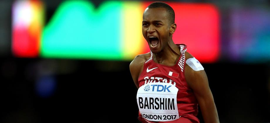 Mutaz Essa Barshim in the high jump at the IAAF World Championships London 2017 (Getty Images)