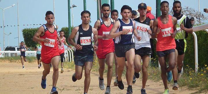 Athletes in action at the Libyan Championships ()