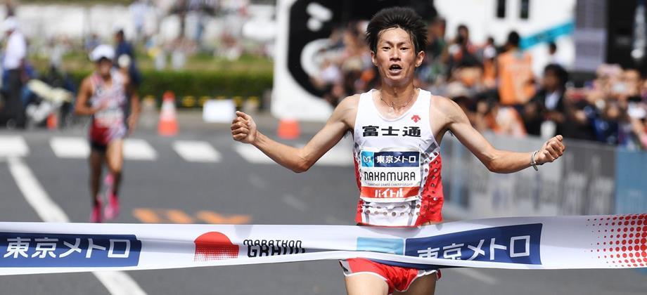 Shogo Nakamura wins the Marathon Grand Championship (AFP / Getty Images)