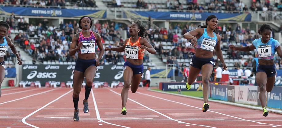 Another 100m victory for Elaine Thompson, this time at the IAAF Diamond League meeting in Paris (Jean-Pierre Durand)