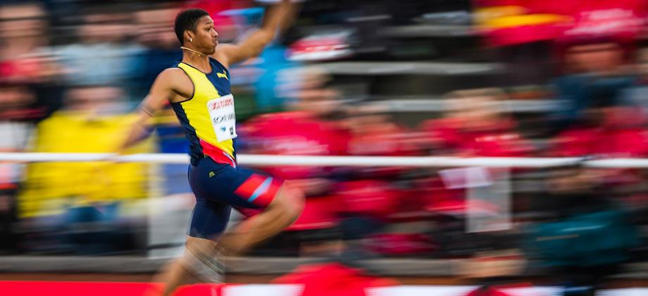 Juan Miguel Echevarria in the long jump at the IAAF Diamond League meeting in Stockholm (AFP / Getty Images)