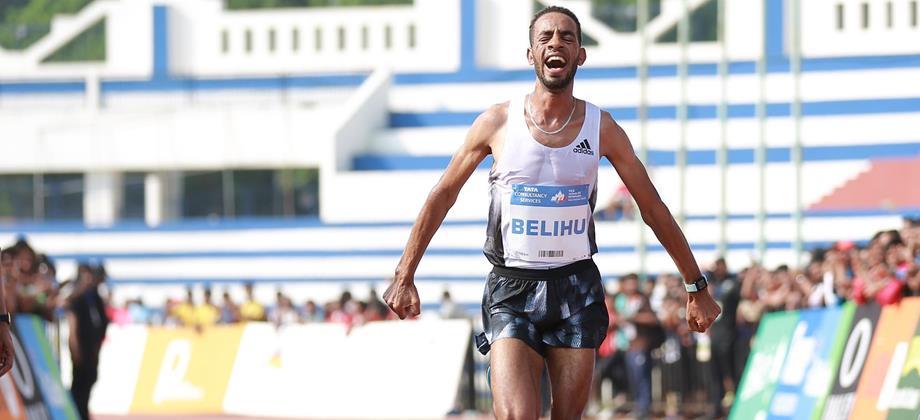 Andamlak Belihu wins the TCS World 10K Bengaluru (Procam International)
