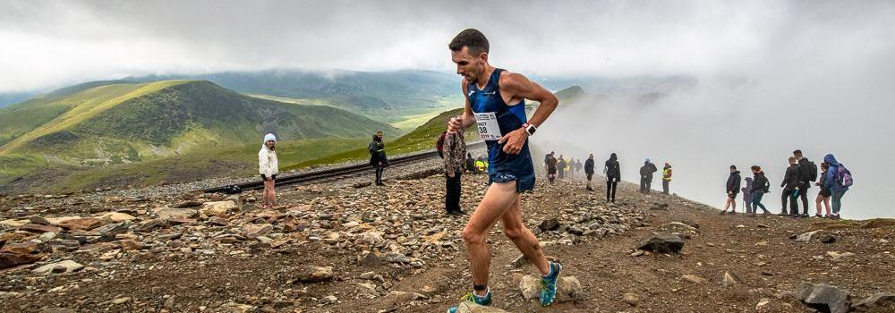 Andrew Douglas in action at the Snowdon International Mountain Race, the fourth leg of the 2019 WMRA World Cup (WMRA)
