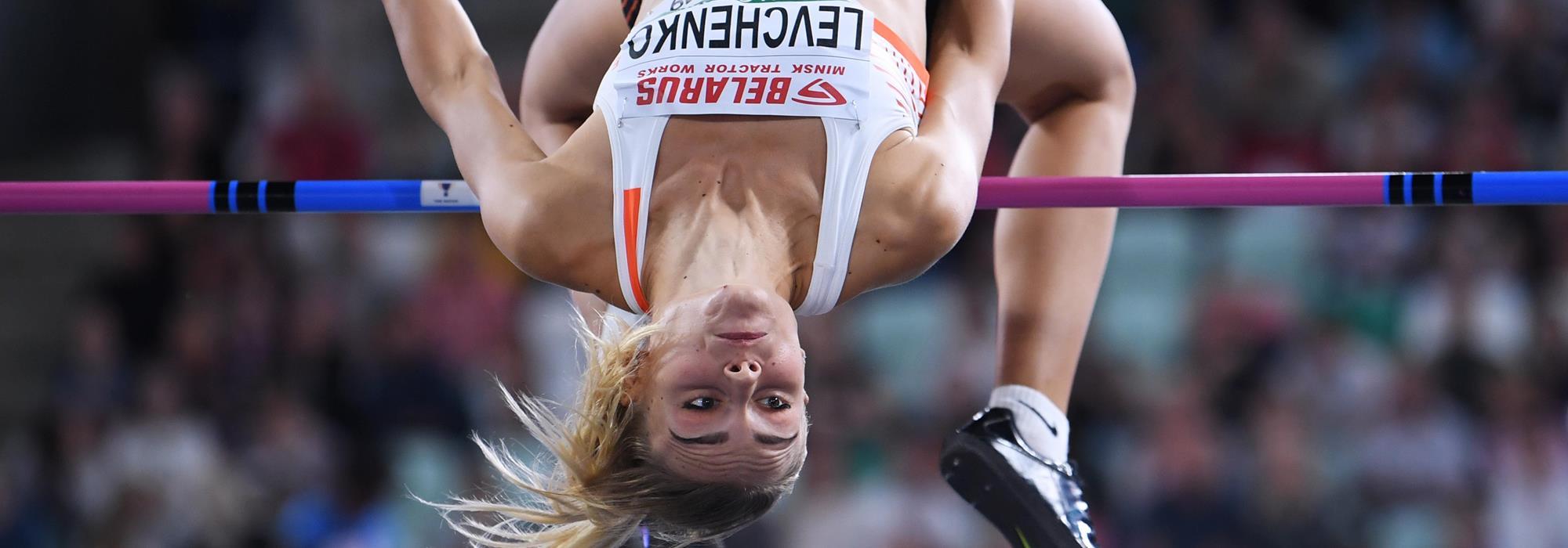 Yuliya Levchenko tops 2.02m in Minsk (Getty Images)