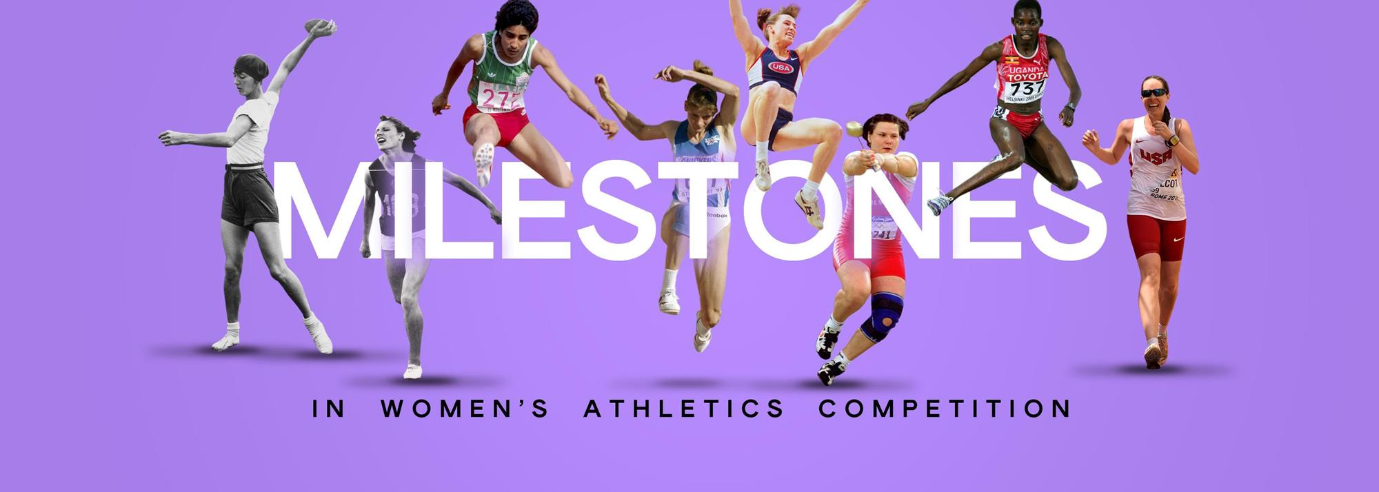 The 100-year journey of women's athletics disciplines reaching parity with men's