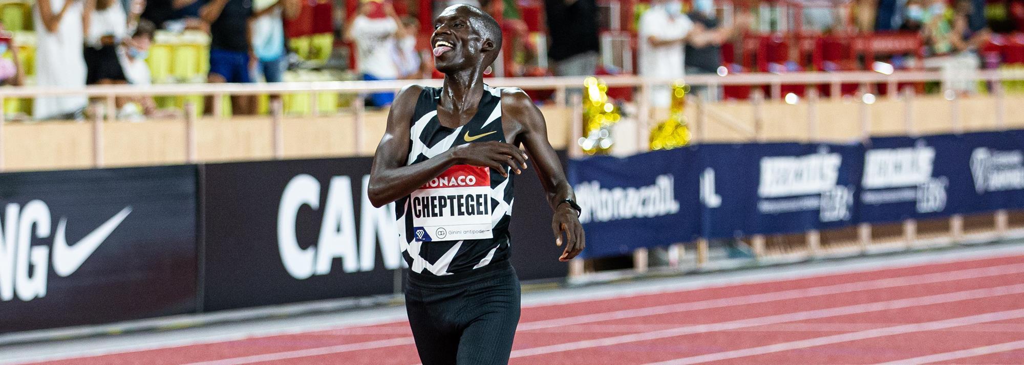 Cheptegei breaks world 5000m record in Monaco as Diamond League action returns