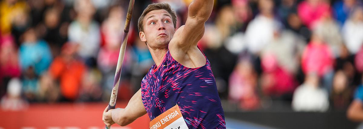 Vetter and Hofmann join Rohler in Turku javelin field