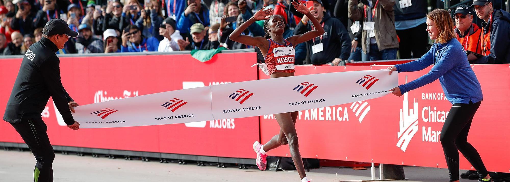 Ratified: Kosgei's 2:14:04 world marathon record, men's 4x400m relay world indoor record