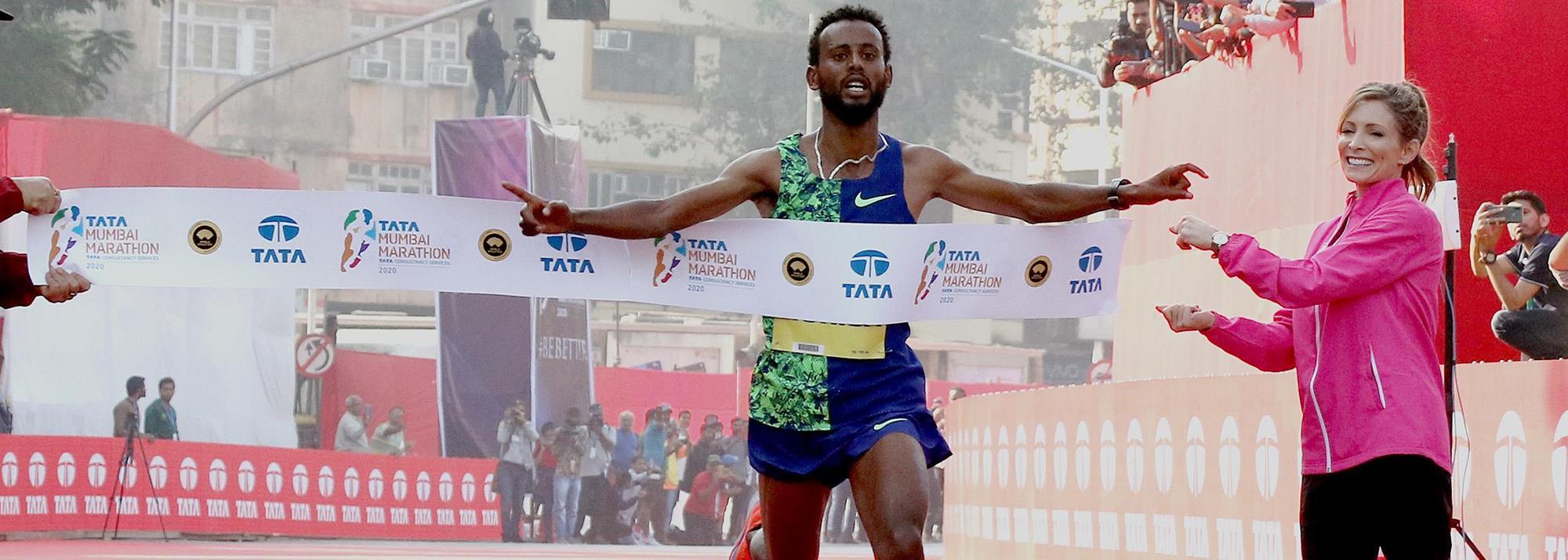 Marathon debutant Hurisa breaks Indian all-comers' record in Mumbai