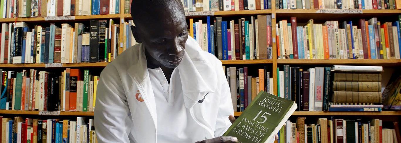 Eliud Kipchoge's passion for books