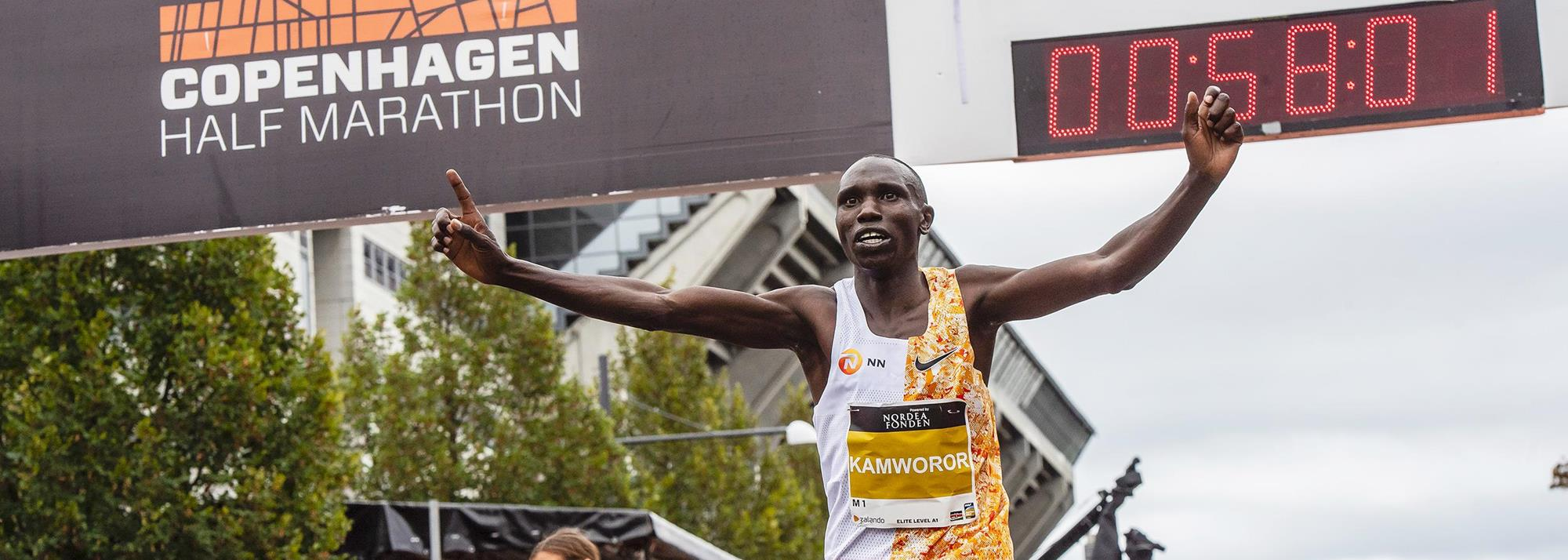 Ratified: Kamworor's 58:01 world half marathon record
