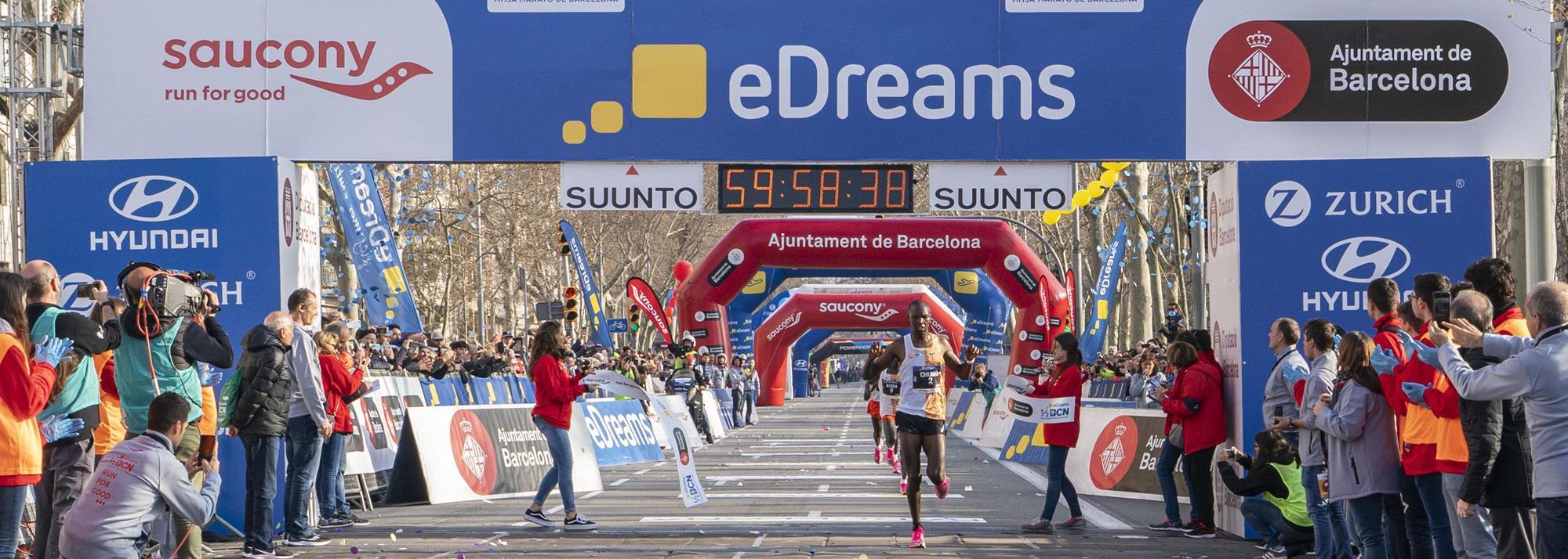 Chumo and Bekere take Barcelona half marathon wins