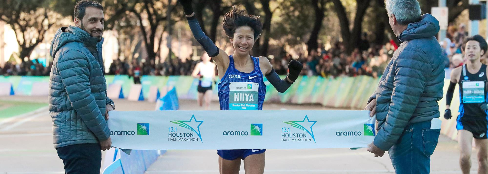 Niiya breaks Japanese half-marathon record in Houston