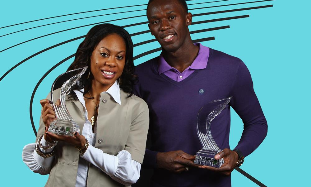 sanya-richards-ross-and-usain-bolt-with-their