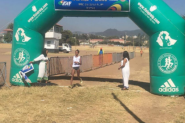 Gete Alemayehu wins at the Ethiopian Clubs and Regions Cross Country  (Abiy Wendifraw)
