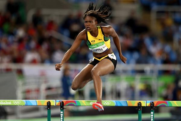 Ristananna Tracey in the 400m hurdles at the Rio 2016 Olympic Games (Getty Images)
