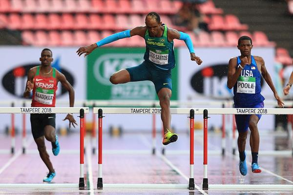 Alison dos Santos at the IAAF World U20 Championships Tampere 2018 (Getty Images)