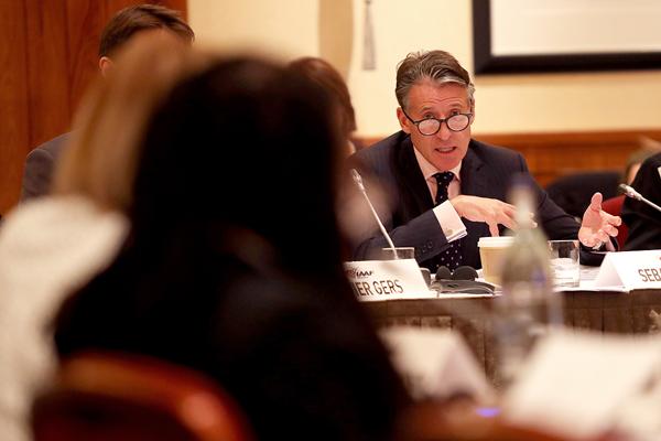 IAAF President Sebastian Coe at the 209th IAAF Council Meeting in London (Chris Lee / IAAF)