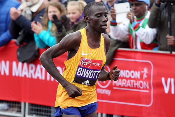 Stanley Biwott in action at the London Marathon (Getty Images)