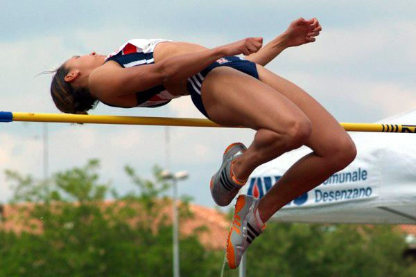 1.95 UK High Jump record for Jessica Ennis in Desanzano (Lorenzo Sampaolo)