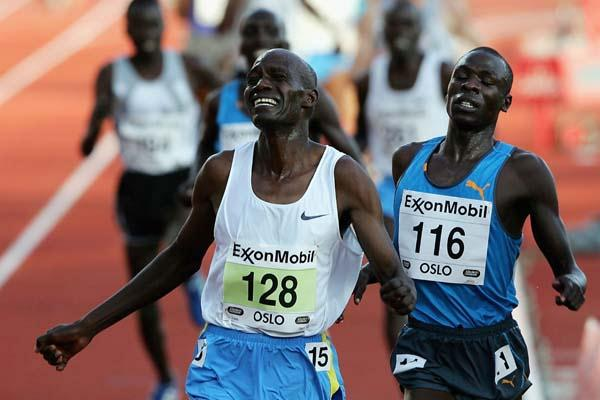 John Kibowen of Kenya wins the men's 5000m in Oslo Golden League (Getty Images)