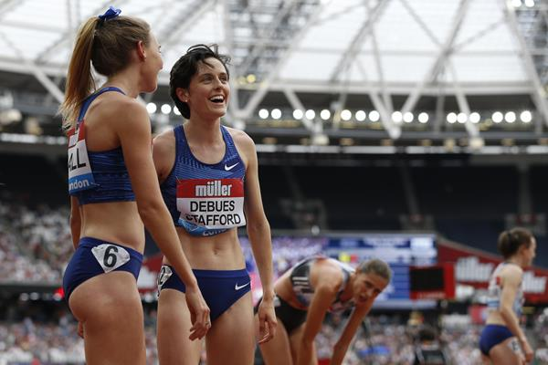 Gabriela Debues-Stafford at the IAAF Diamond League meeting in London (AFP / Getty Images)