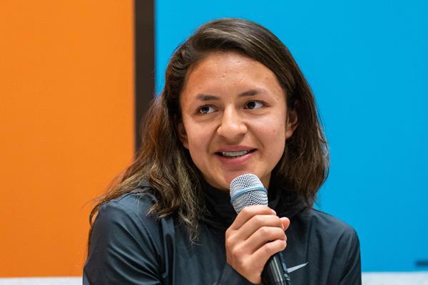Ecuadorian race walker Glenda Morejon (Philippe Fitte)
