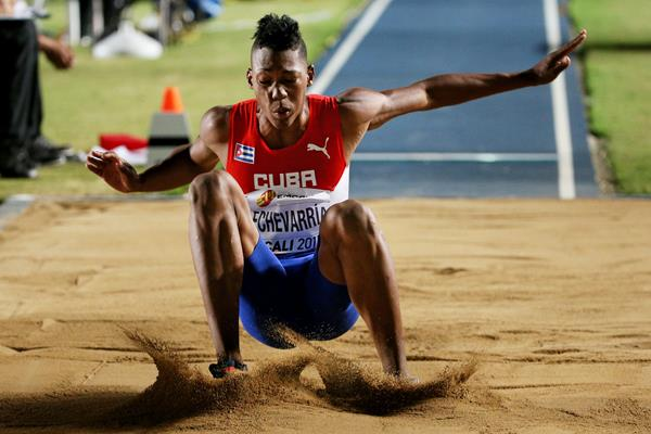 Juan Miguel Echevarria in the long jump at the IAAF World Youth Championships Cali 2015 (Getty Images)