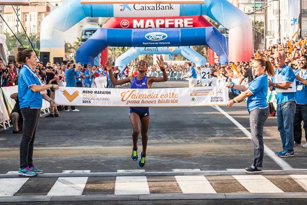 Netsanet Gudeta wins the Valencia Half Marathon (Organisers)