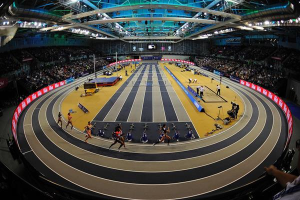 General view of the World Indoor Tour meeting in Glasgow (AFP / Getty Images)