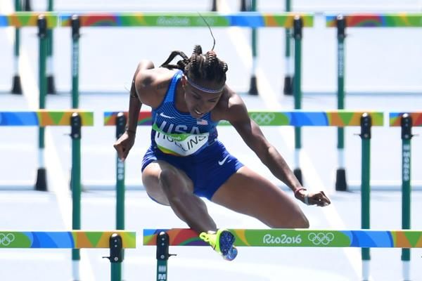 Brianna Rollins in the 100m hurdles heats at the Rio 2016 Olympic Games (Getty Images)