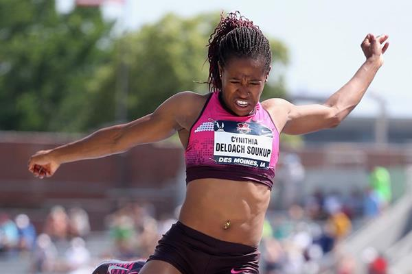 Janay DeLoach Soukup in the Long Jump at the 2013 US Championships (Getty Images)