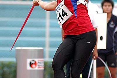 Thailand's Buoban Pamang sets SEA Games record in women's Javelin Throw (Peh Siong San)