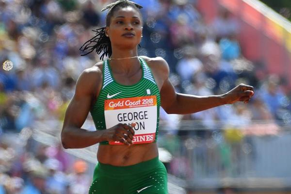Nigerian sprinter Patience Okon-George at the Commonwealth Games (AFP/Getty Images)