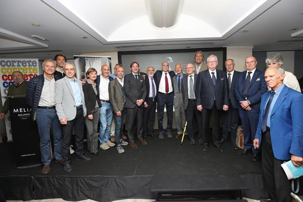 Athletics historians gather at a book launch event for Franco Arese's biography, Divieto di Sosta (Giancarlo Colombo)