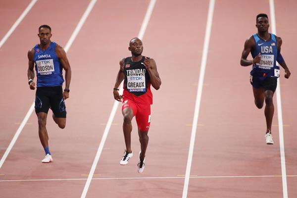Kyle Greaux in the 200m at the IAAF World Athletics Championships Doha 2019 (Getty Images)